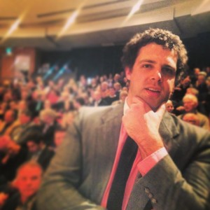 James at the debate - photo by Patrick Gower (http://i.instagram.com/p/sb7DqFCA5S/)